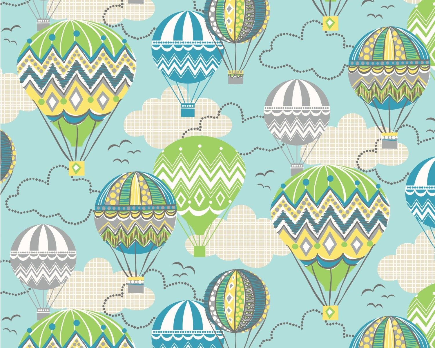 Blown away balloon ride blue cotton print fabric from blend for Airplane print cotton fabric