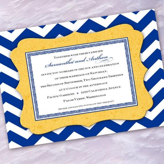 Bridal Shower Invitations Wedding Chevron