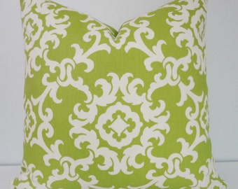 OUTDOOR Pillow Covers Green Suzani Print Porch Pillows Deck Pillow 18x18