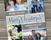 Christmas Photo Card - Holiday Photo Cards (Digital File) I Design, You Print