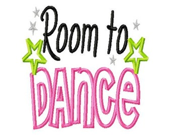 Room to Dance - Applique - Machine Embroidery Design -  8 sizes
