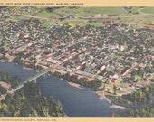 Skyline View of Albany, Oregon -Vintage Linen Postcard - Unused (T)