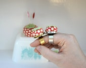 Kitchy Tomato Pincushion Adjustable Ring Design Your Own
