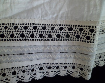 Irish Lace Victorian Antique Embroidered Remnant