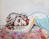 Fashion painting art print floral - Eliza Dreams
