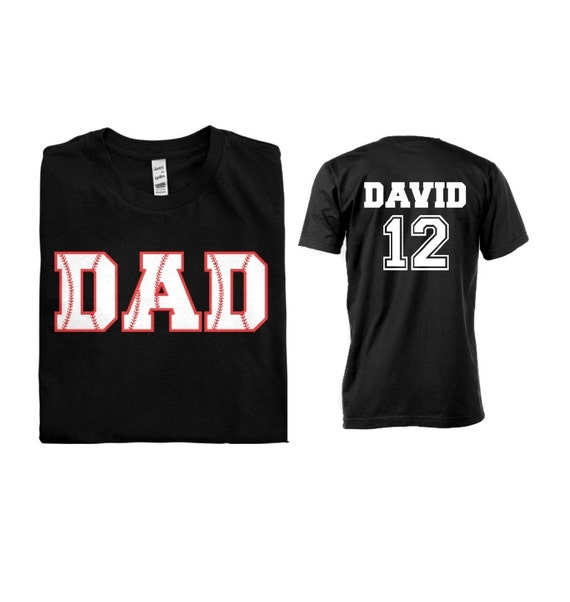 Baseball Dad Men Custom T Shirt With Personalized Child S