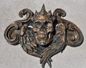 Queen Calavera Wall Plaque, Bronze Finish