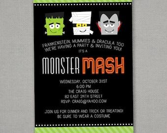 Halloween Monster Mash Invitation
