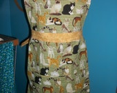 Ginny Apron - Cat Lover Cat Breeds  - Ready to ship