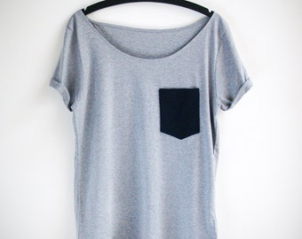Organic Cotton Navy Pocket Tunic