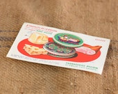 Vintage French Fromages Picon Papers Publicity Ink Blotting Paper or Print. Cheese and Ham