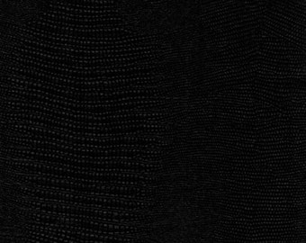 """Black Alligator Disressed upholstery Faux Leather Vinyl fabric per yard 54"""" Wide"""