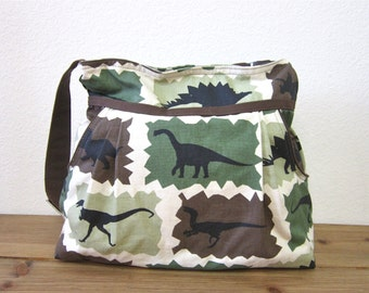 Dinosaurs Diaper bag/overnight bag/Baby diaper bag/green diaper bag /Kids/Women/Accessories/Bags and purses  - last one/Ready to ship