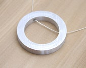 Minimalist Jewelry Minimal Necklace Circle Pendant