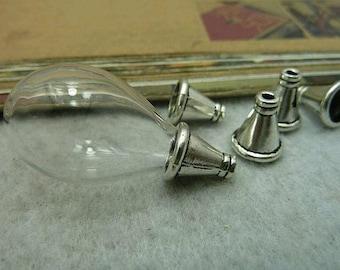 50pcs 10x11mm Silver Color Cap C6543