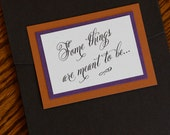Fall wedding invitation, ...