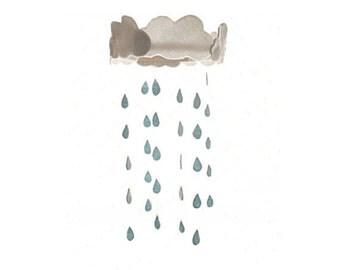 Nursery Mobile - Rainy Day
