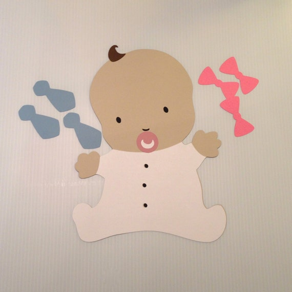 baby shower game pin the hair bow or neck tie on the baby