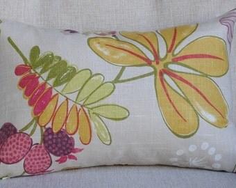 Beautiful Decorative Pillow Cover-12x18-Pindler & Pindler Fleurette Amethyst-BOTH SIDES