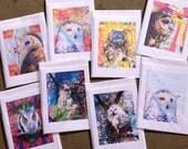 Eight Assorted Owl Card Set