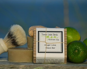 Ginger Lime Shave Bar Soap, Handmade, All Natural, Cold Process Soap
