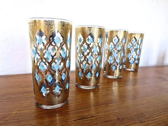 Vintage Culver Glasses Seville High Balls Mid Century Set Of 4