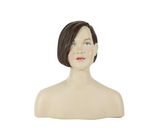 Mannequin Head and Shoulders - Vintage - Store Display - 1970's - 1980's - Bust - Hat Stand