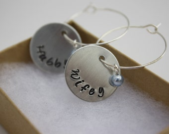 Bride and Groom Wine Charm Set, Personalized Bridal Shower Gift, Ready to Ship
