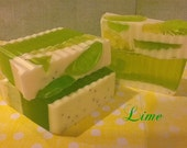 Handmade Soap Lime Soap Swirls  Fresh and Vibrant