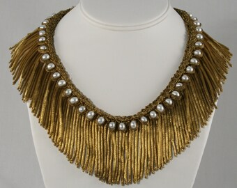 Showstopper!! Lush Antique French Fringe Necklace