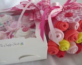 14 Piece Baby Shower Gift, Onesie Cupcakes and Washcloth Bouquet for  Baby Girl