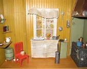 Carl Larsson Kitchen Miniature Room Box --- NEW PRICE FOR 2013