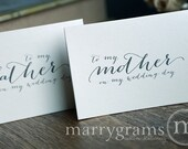 Wedding Card to Your Mother & Father - Parents of the Bride or Groom Cards, Stepmother, Stepfather Rustic Handwritten Style (Set of 2) CS09
