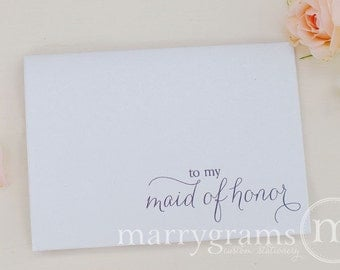To My Bridesmaid, Maid of Honor, Wedding party Wedding Thank You Cards for Groomsmen, Best Man, Flower Girl, Matron (Set of 8) CS01