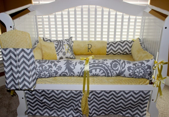 Custom Baby Bedding Gender Neutral 6 Pc Set By BabiesNBaubles