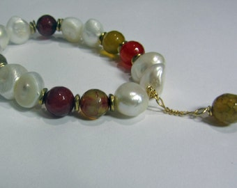 Pearl and Agate Bracelets
