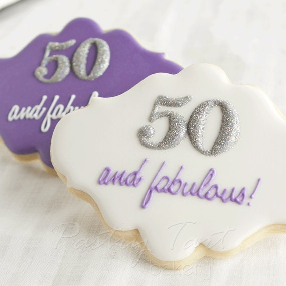 50 Abd Fabulou: Items Similar To 50 And Fabulous Birthday Cookie Favors