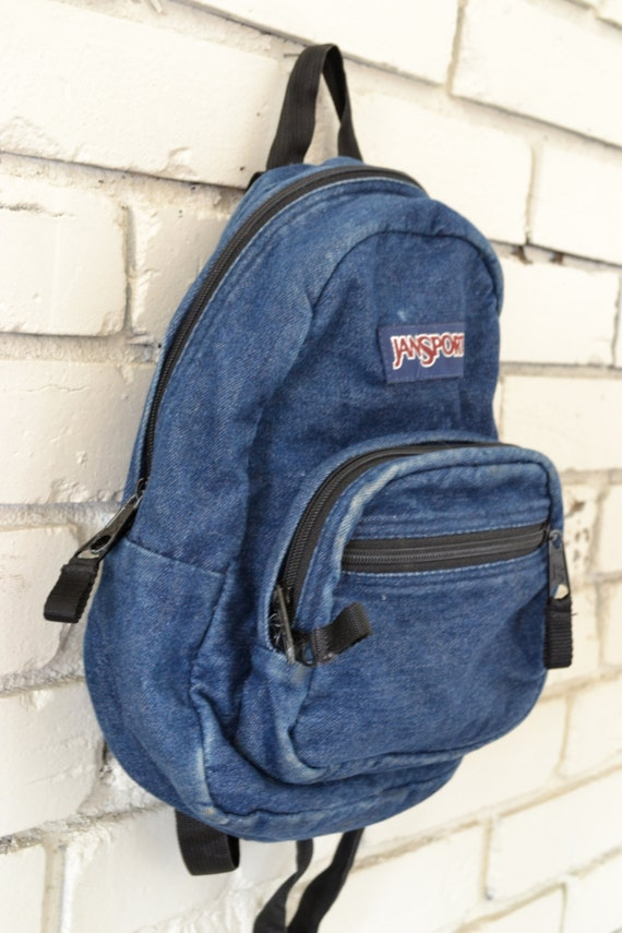 Vintage Mini Denim Jansport Backpack