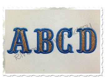 Small 2 Inch Carnival Applique Machine Embroidery Font Monogram Alphabet