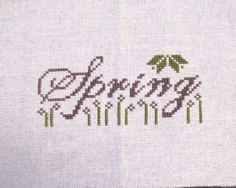 Completed Cross Stitch Picture - Spring