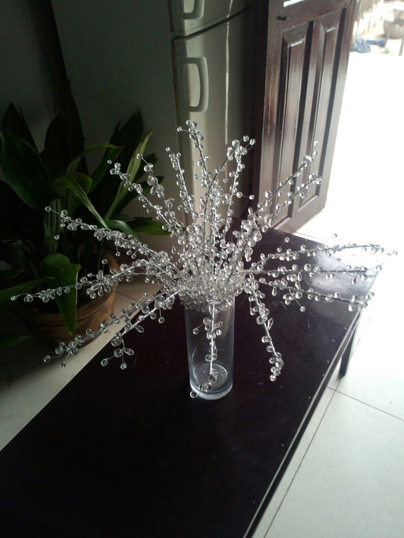 Handmade diamond tree branches crystal wired garland etsy