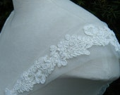 Straps cap sleeves Ivory Lace on tulle (Haley), PRETTY !! Detachable