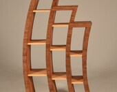 Wood Bookcase Curved Wooden Custom - The WaveStack - a MapleBear design