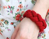 Cable Braid Bracelet knitting pattern, maiden braid headband: Instant PDF Download