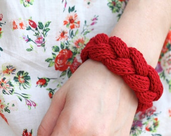 Cable Braid Bracelet knitting pattern, maiden braid headband: Instant PDF Download