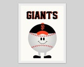 San Francisco Giants, artwork, children's nursery artwork, print, picture, baseball, sports, boy, SF, world series, kids room