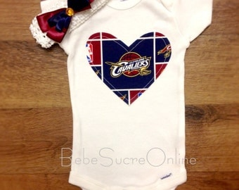 Cleveland Cavaliers Bodysuit AND Headband