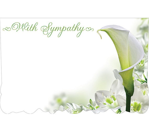 With sympathy lilly flowers florist blank
