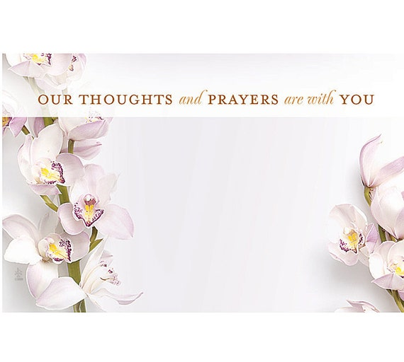 Thoughts prayers sympathy florist blank enclosure cards