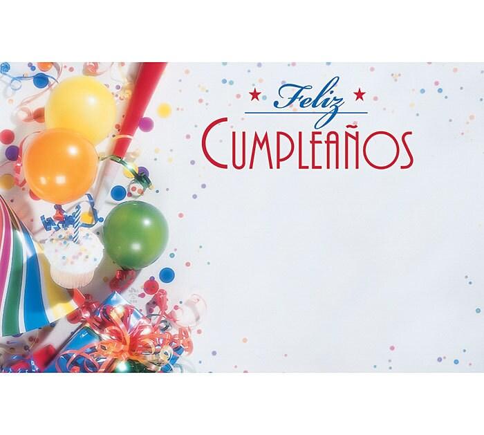 50 Feliz Cumpleanos Spanish Happy Birthday Print – Spanish Birthday Cards Free